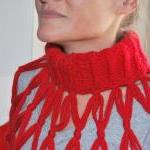 Scarf Red knit neckwarmer - Very so..