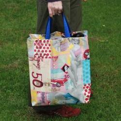 Colourful market bag 80's vintage by El rincón de la Pulga