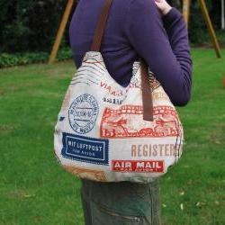 Gipsy tote travel bag with brown strap by El rincón de la Pulga