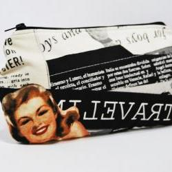 Vintage Clutch Pinup girl perfect for nights prints by El rincón de la Pulga