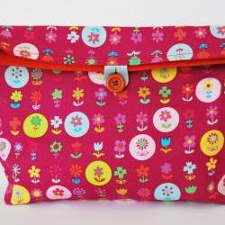 Flowers reusable  snack  bag  by  El rincón de la Pulga
